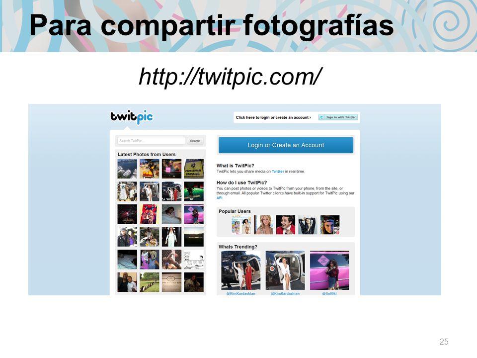 Para compartir fotografías