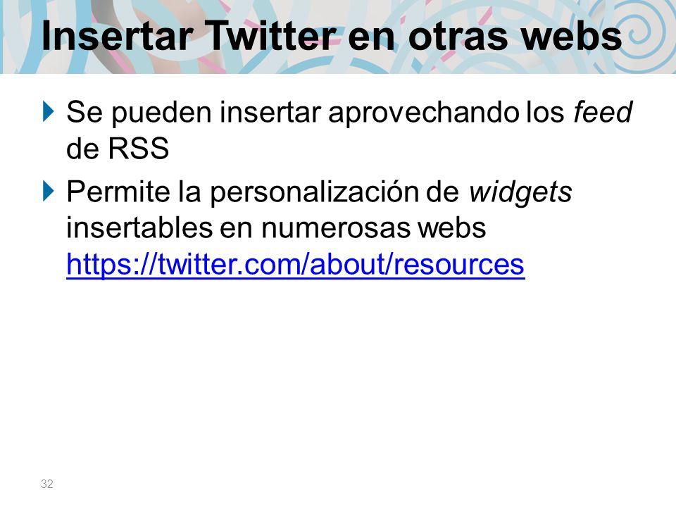 Insertar Twitter en otras webs