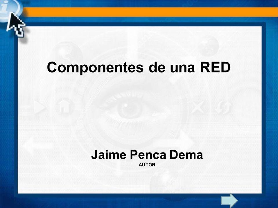 Componentes de una RED Jaime Penca Dema AUTOR