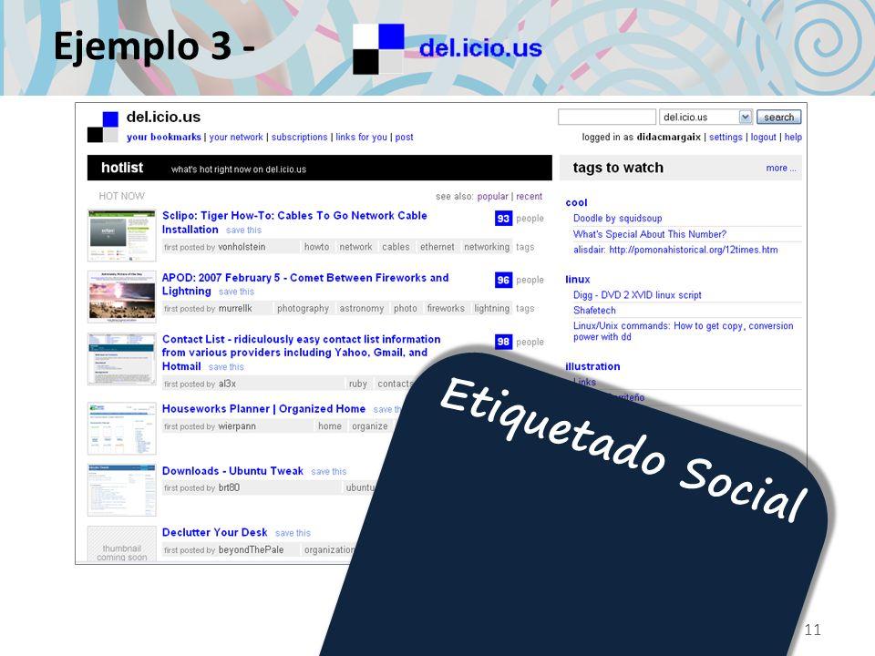 Ejemplo 3 - Etiquetado Social 11