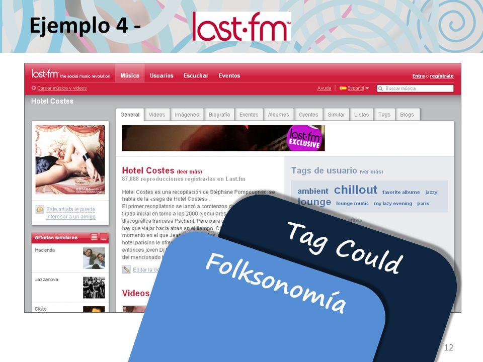 Ejemplo 4 - Tag Could Folksonomía 12