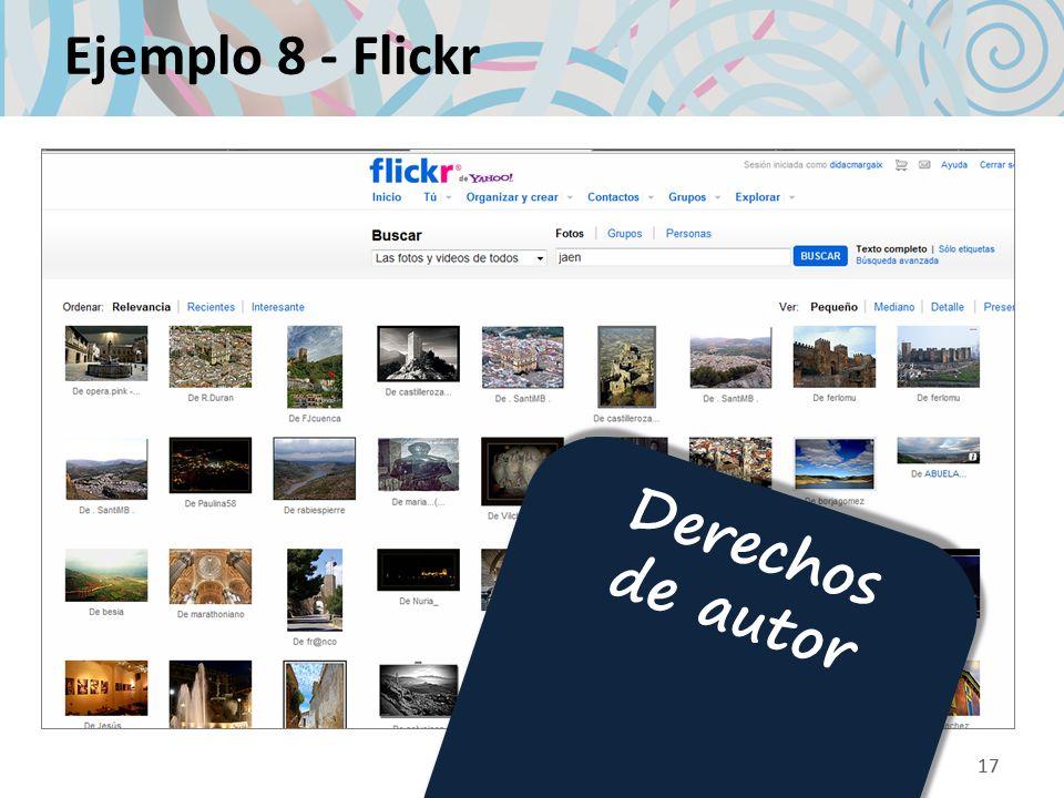 Ejemplo 8 - Flickr Derechos de autor 17 17