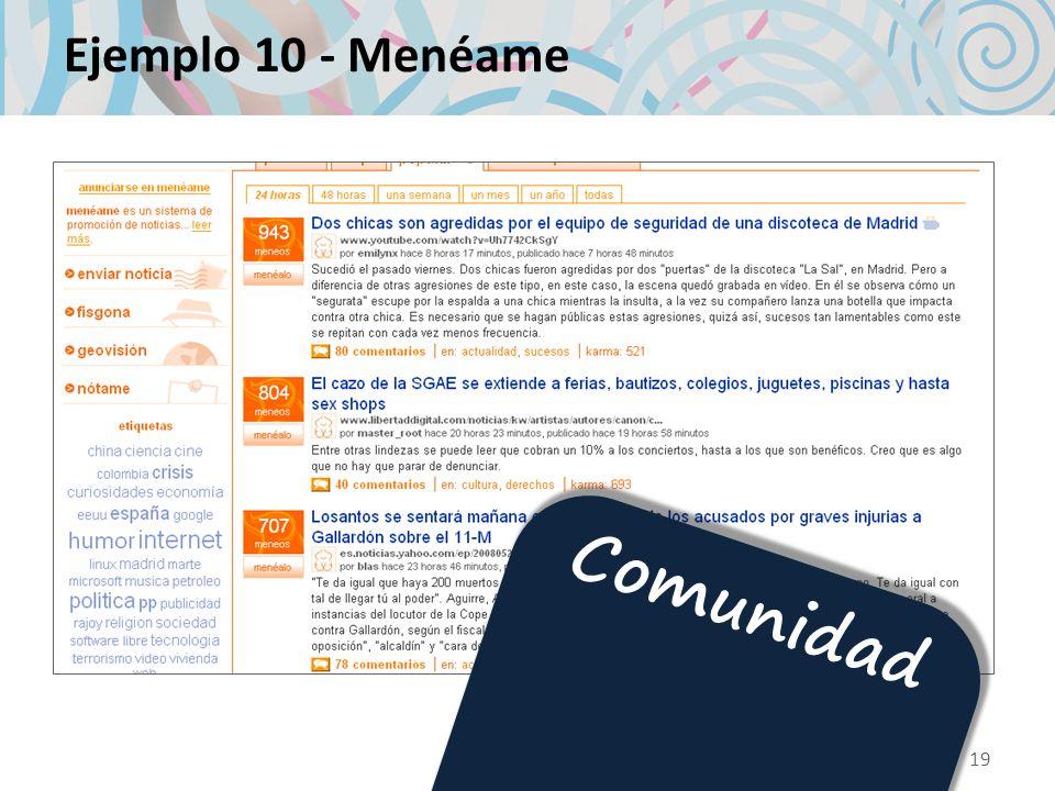 Ejemplo 10 - Menéame Comunidad 19