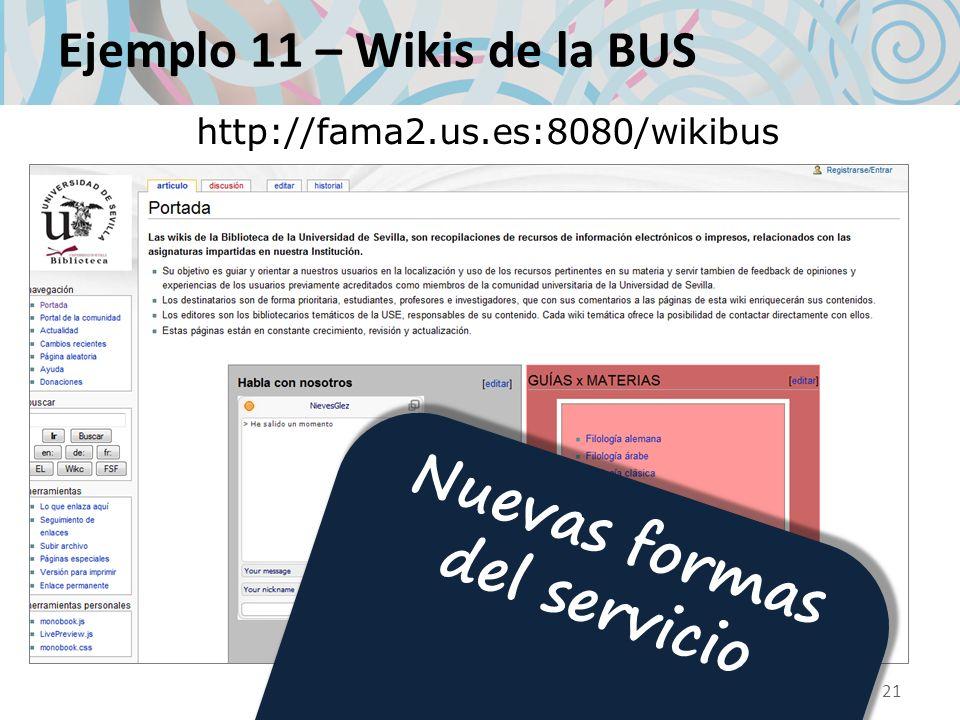 Ejemplo 11 – Wikis de la BUS