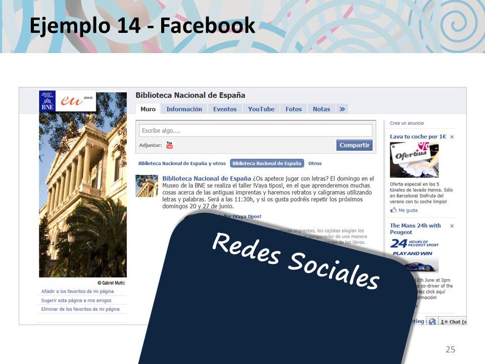 Ejemplo 14 - Facebook Redes Sociales 25