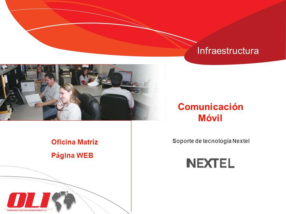 Infraestructura Comunicación Móvil Oficina Matríz Página WEB