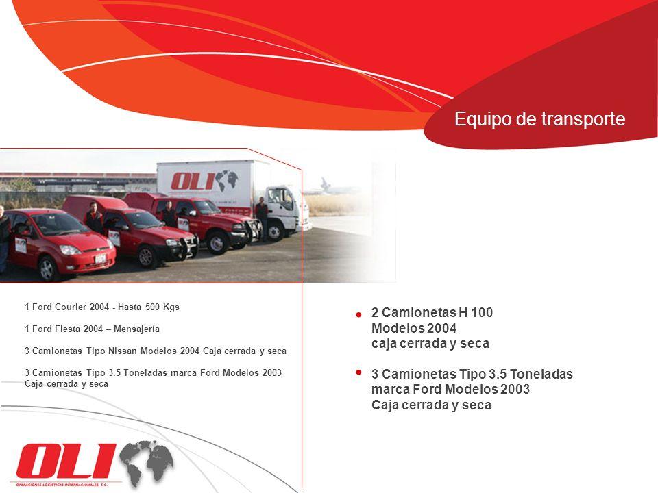 Equipo de transporte 2 Camionetas H 100 Modelos 2004