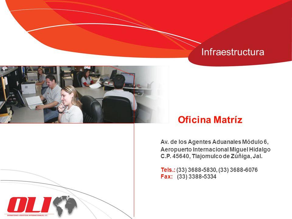 Infraestructura Oficina Matríz Av. de los Agentes Aduanales Módulo 6,