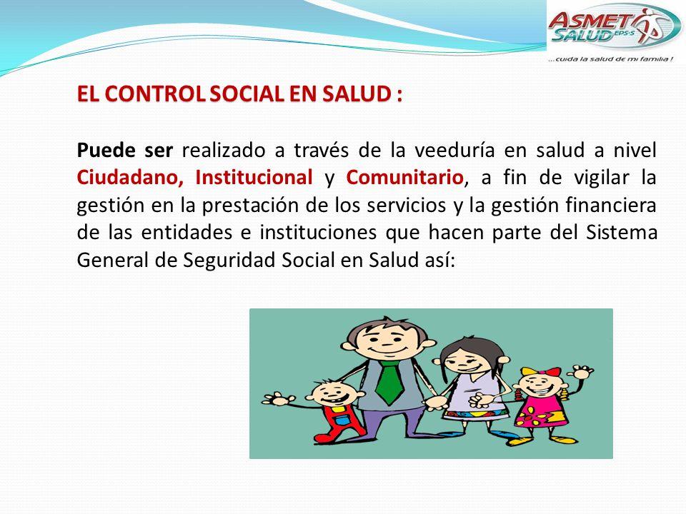EL CONTROL SOCIAL EN SALUD :