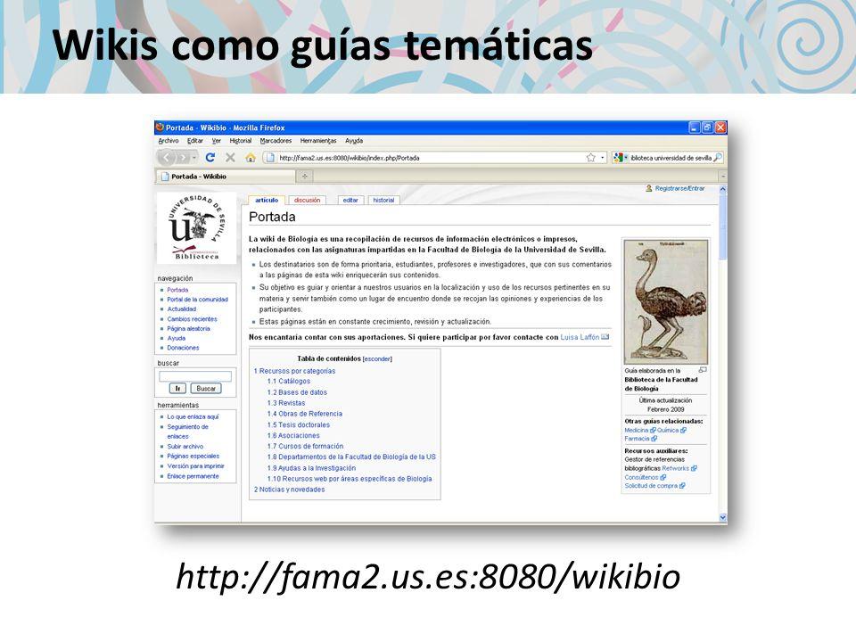 Wikis como guías temáticas