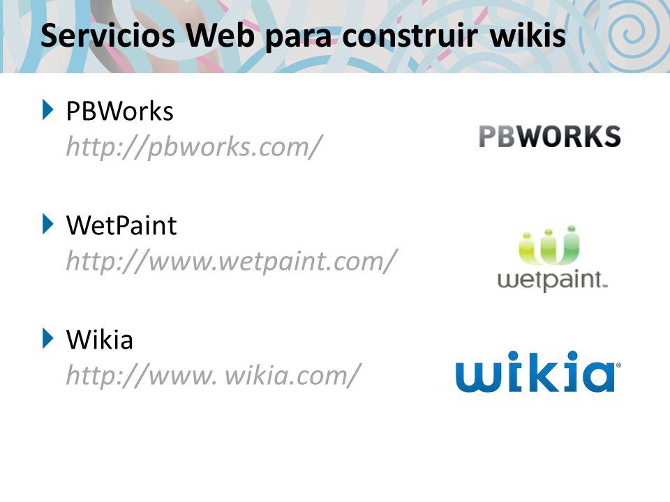 Servicios Web para construir wikis