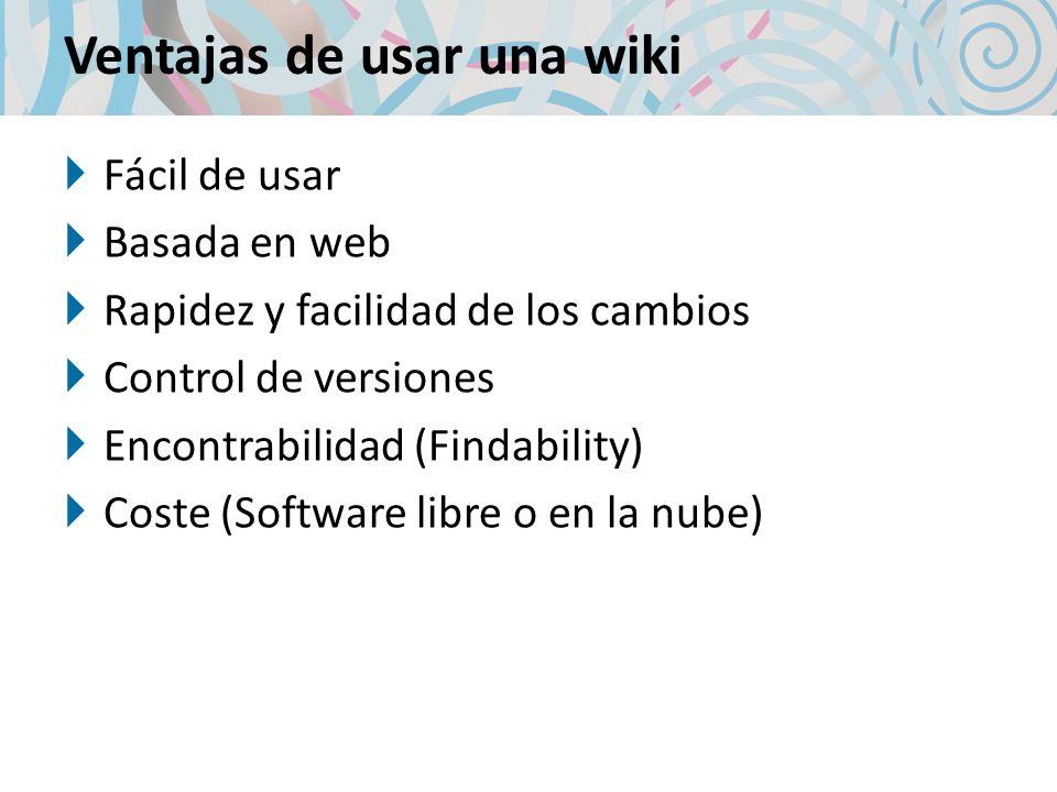 Ventajas de usar una wiki