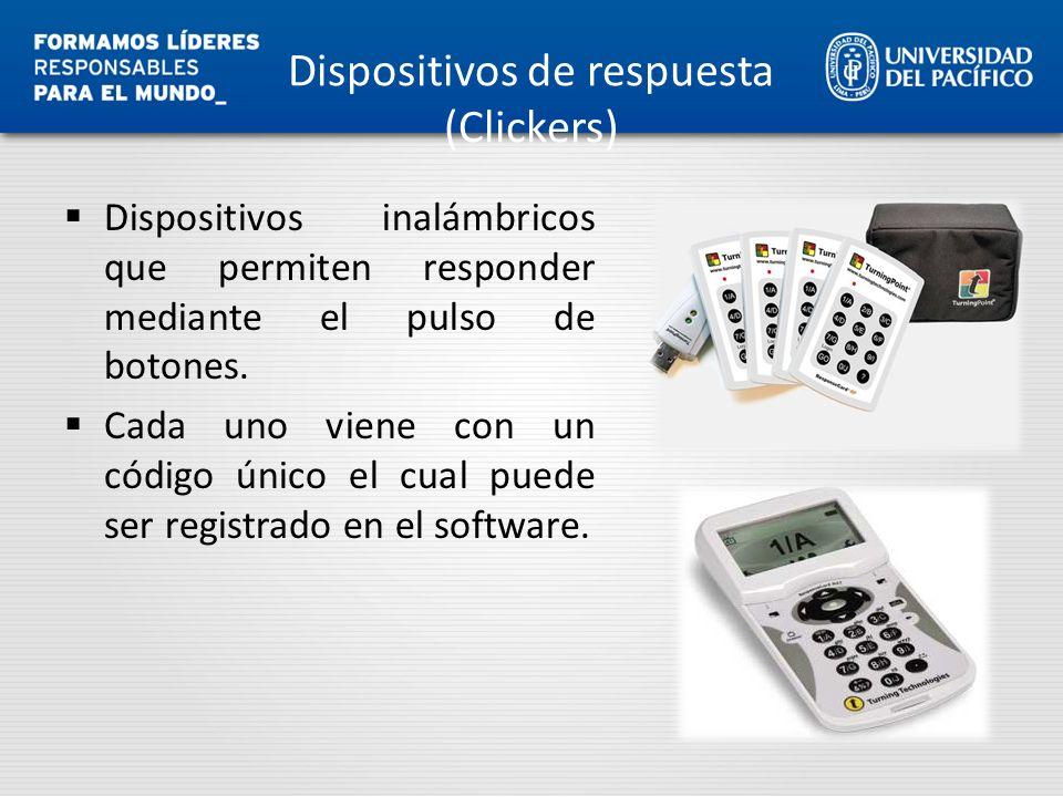 Dispositivos de respuesta (Clickers)