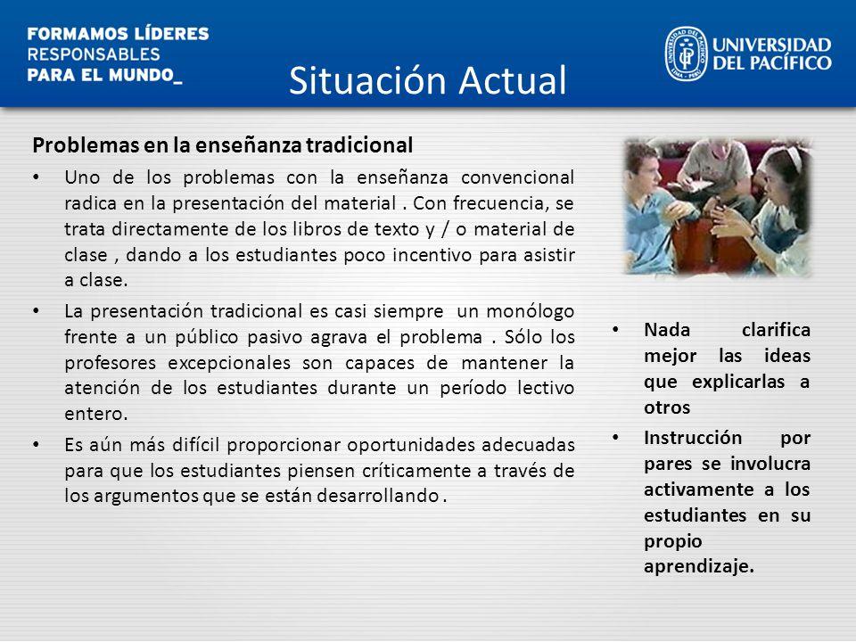 Situación Actual Problemas en la enseñanza tradicional