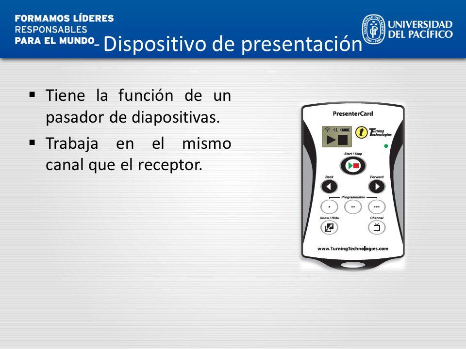 Dispositivo de presentación