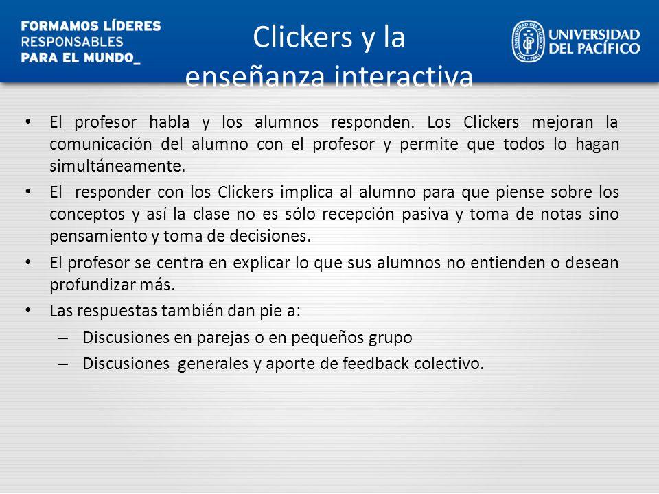 Clickers y la enseñanza interactiva