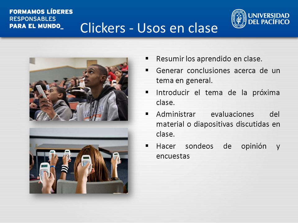 Clickers - Usos en clase