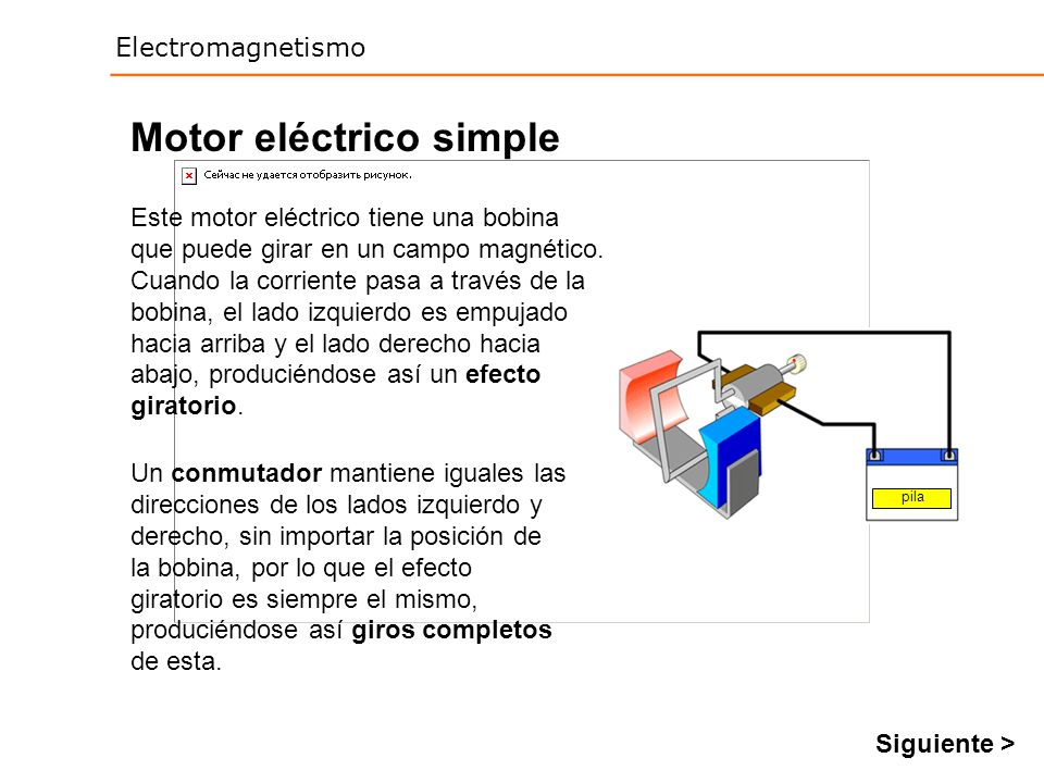 Motor eléctrico simple