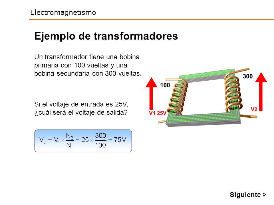 Ejemplo de transformadores