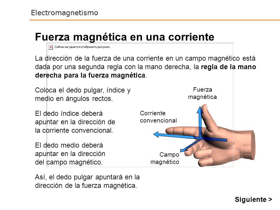 Fuerza magnética en una corriente