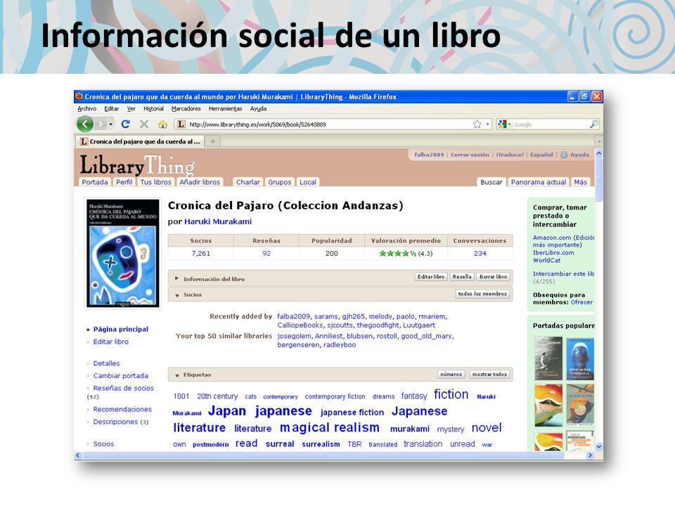 Información social de un libro
