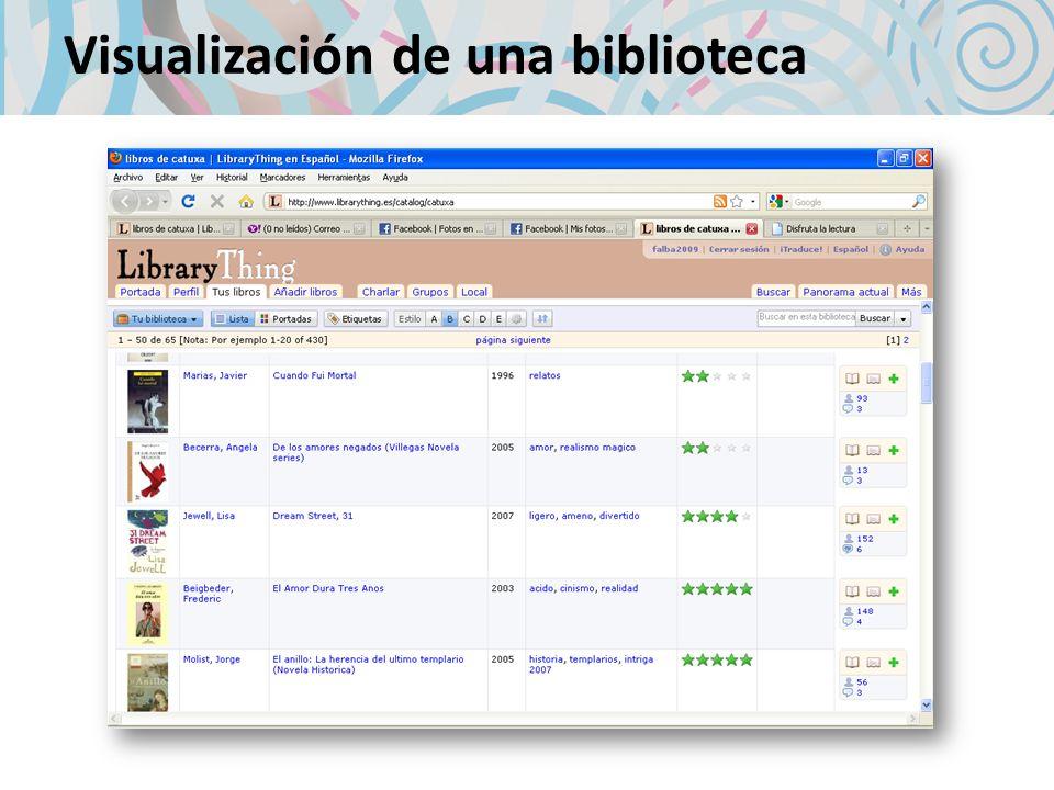 Visualización de una biblioteca