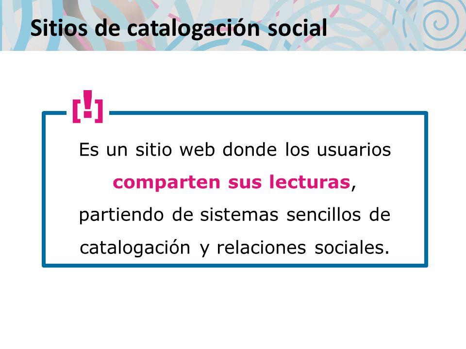 Sitios de catalogación social