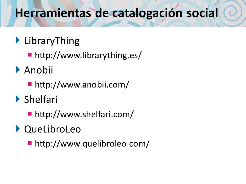 Herramientas de catalogación social