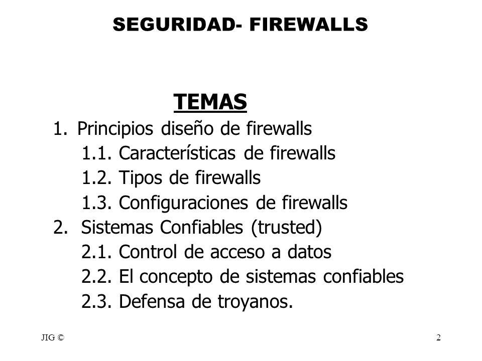 1. Principios diseño de firewalls 1.1. Características de firewalls