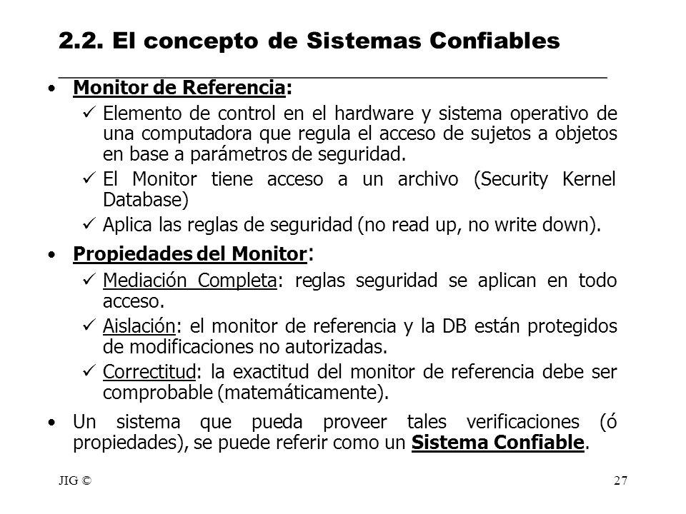2.2. El concepto de Sistemas Confiables ________________________________________________