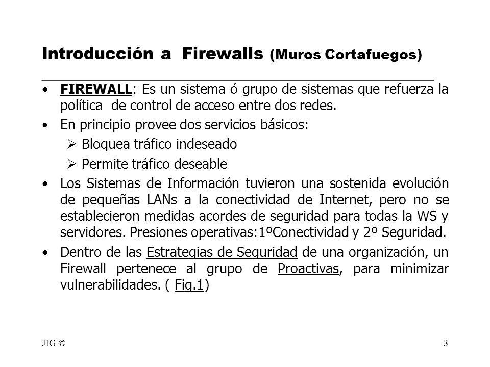 Introducción a Firewalls (Muros Cortafuegos) ________________________________________________