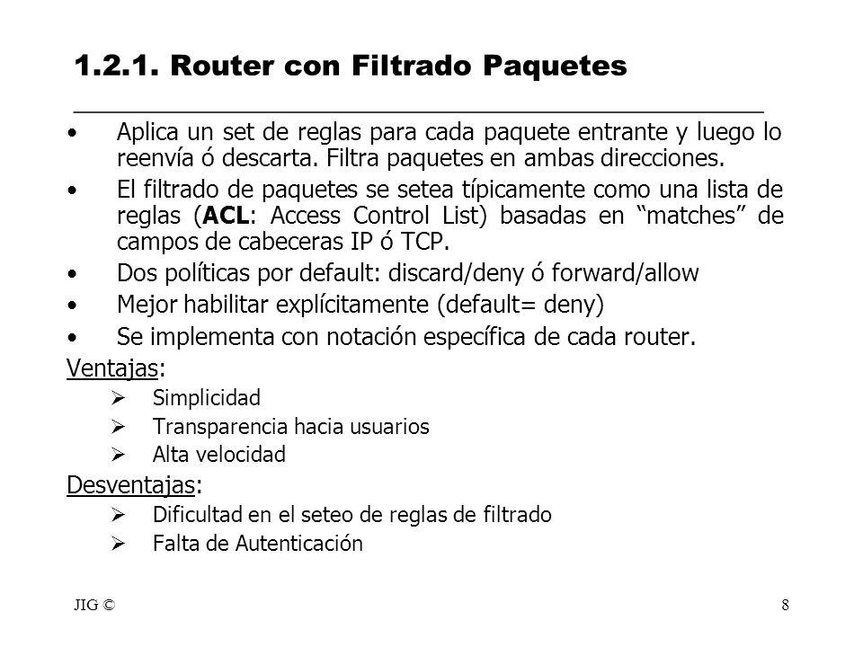 1.2.1. Router con Filtrado Paquetes ________________________________________________