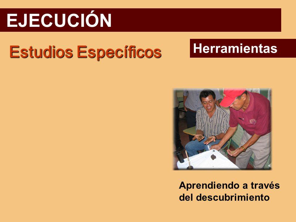 EJECUCIÓN Estudios Específicos Herramientas