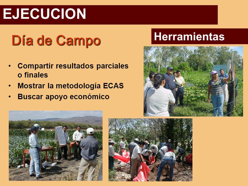 EJECUCION Día de Campo Herramientas