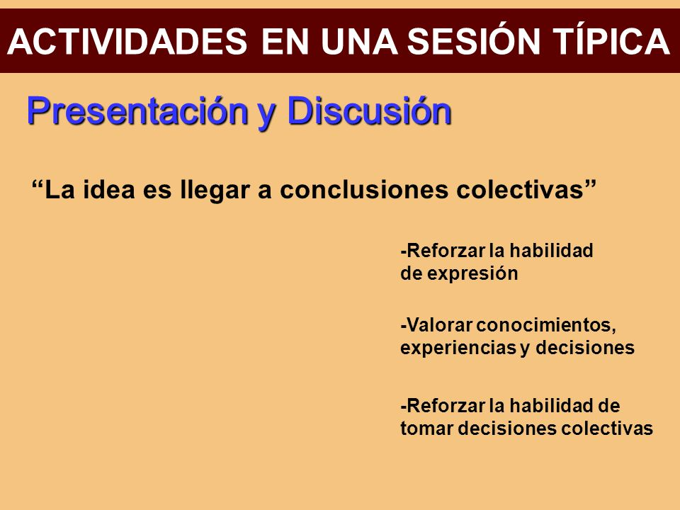 Presentación y Discusión