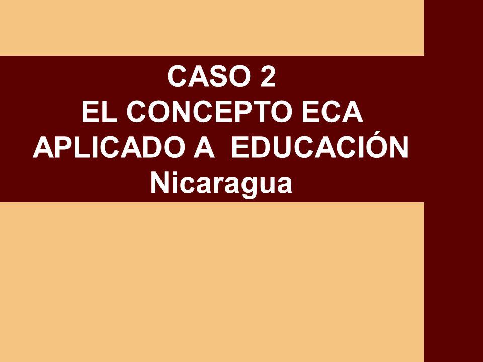 CASO 2 EL CONCEPTO ECA APLICADO A EDUCACIÓN Nicaragua