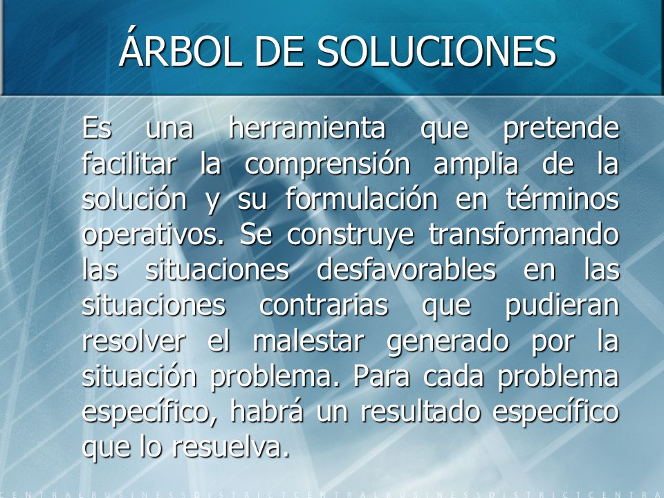 ÁRBOL DE SOLUCIONES