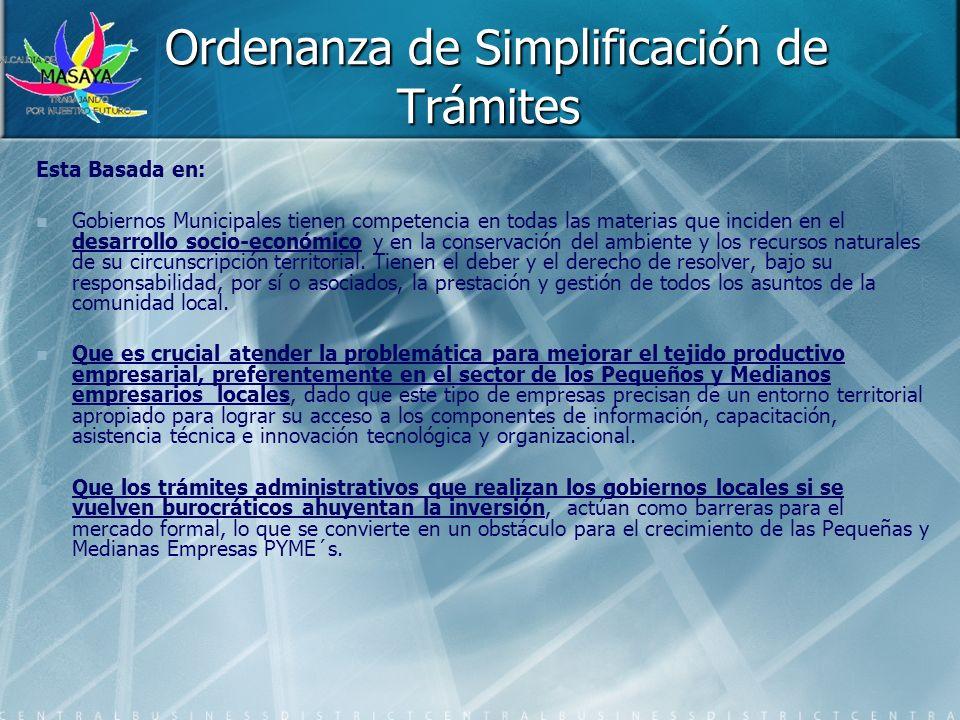 Ordenanza de Simplificación de Trámites