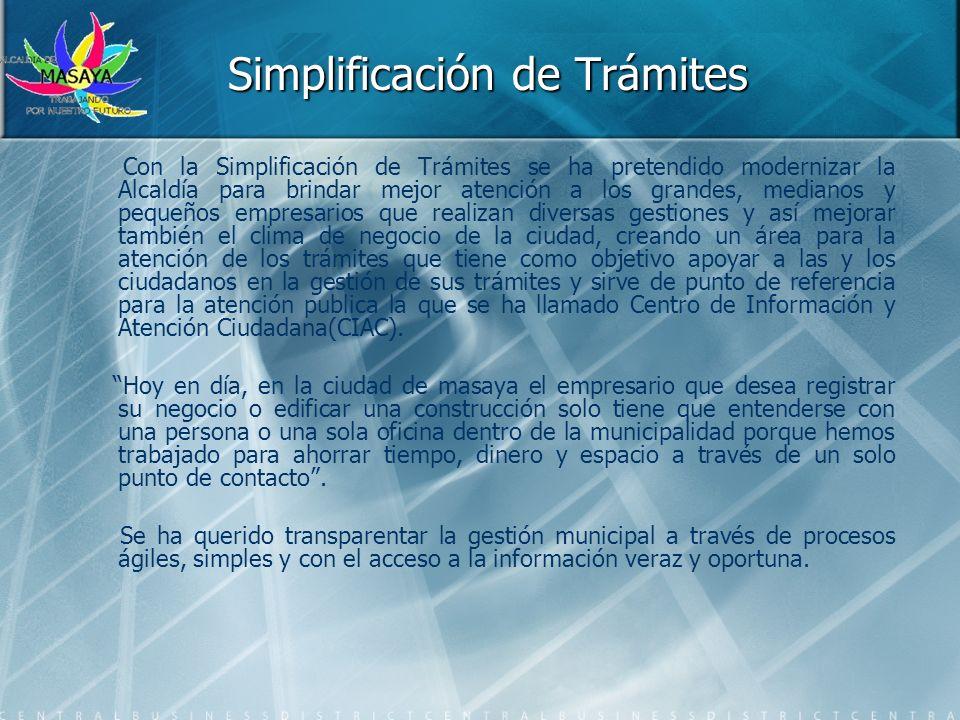Simplificación de Trámites