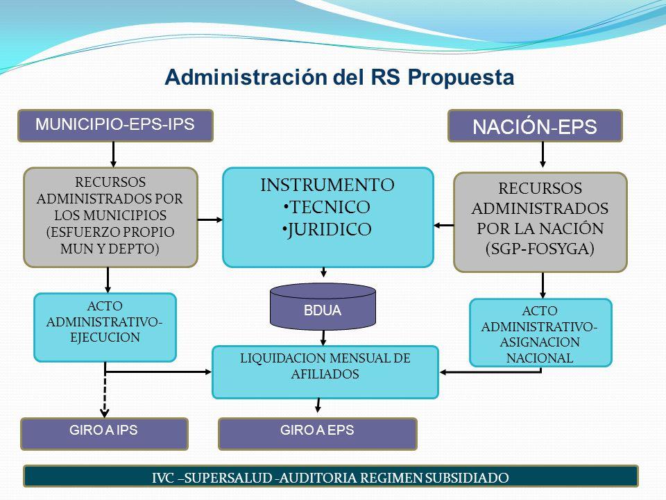 Administración del RS Propuesta