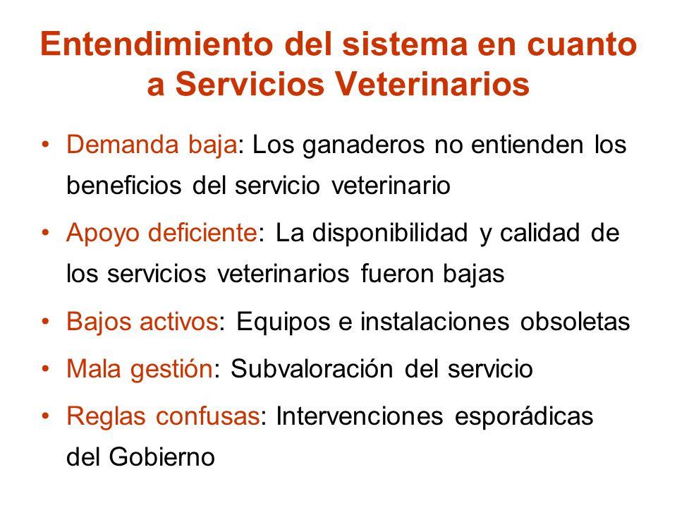 Entendimiento del sistema en cuanto a Servicios Veterinarios