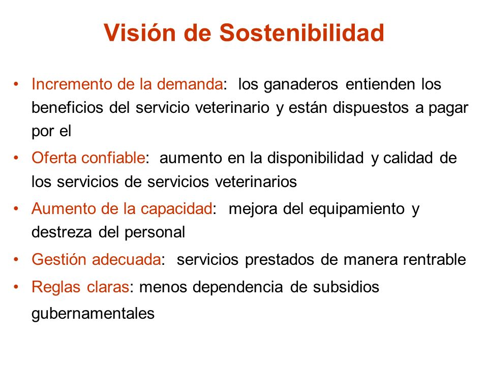 Visión de Sostenibilidad
