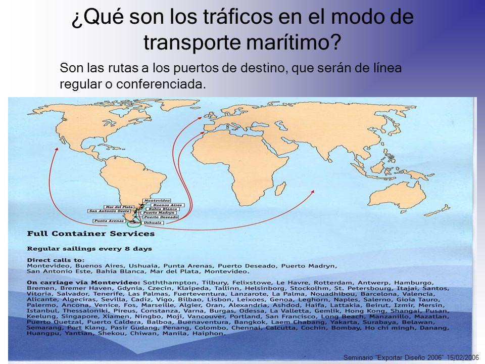 ¿Qué son los tráficos en el modo de transporte marítimo