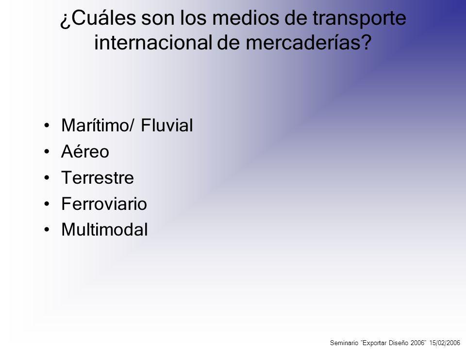 ¿Cuáles son los medios de transporte internacional de mercaderías