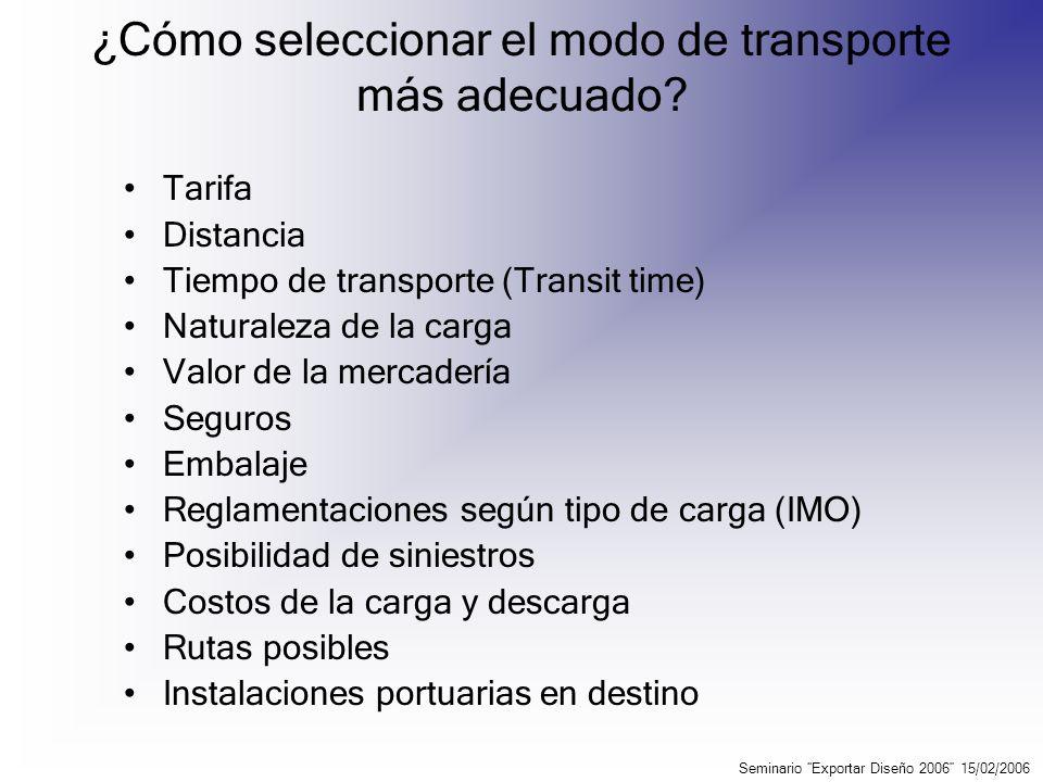 ¿Cómo seleccionar el modo de transporte más adecuado
