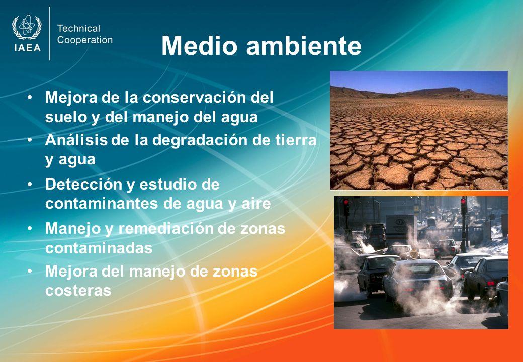 Medio ambiente Mejora de la conservación del suelo y del manejo del agua. Análisis de la degradación de tierra y agua.