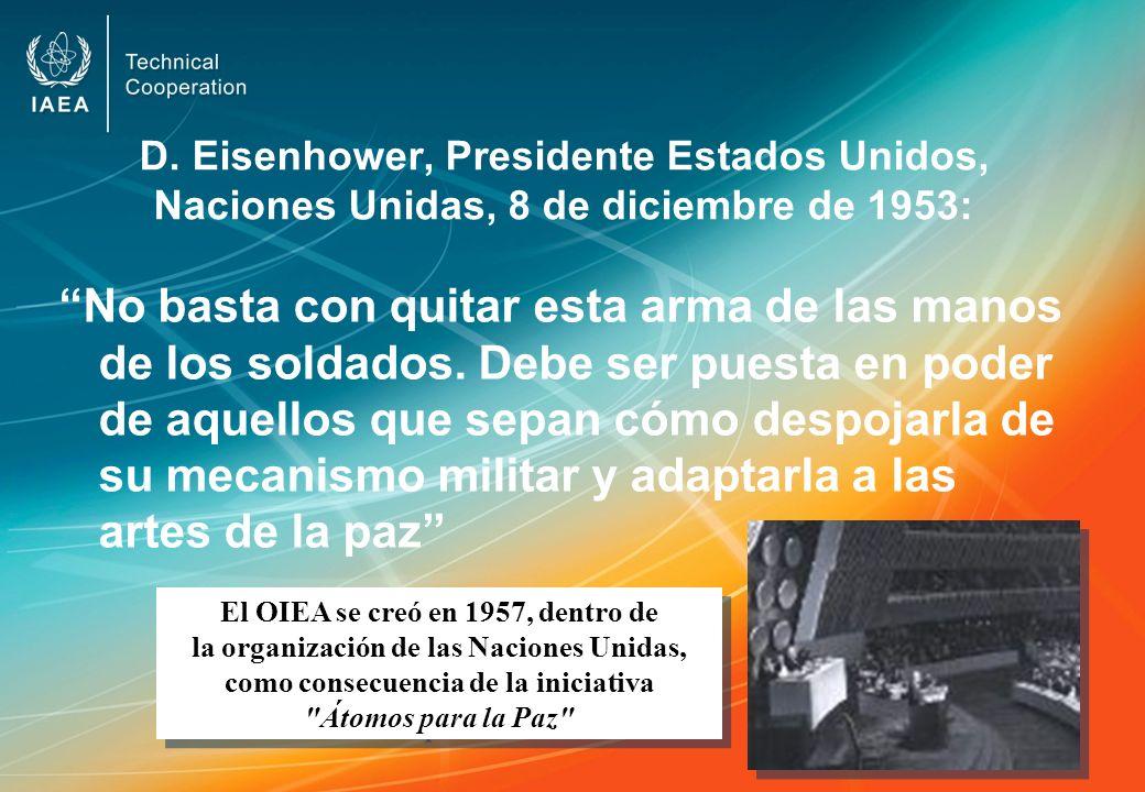 D. Eisenhower, Presidente Estados Unidos, Naciones Unidas, 8 de diciembre de 1953: