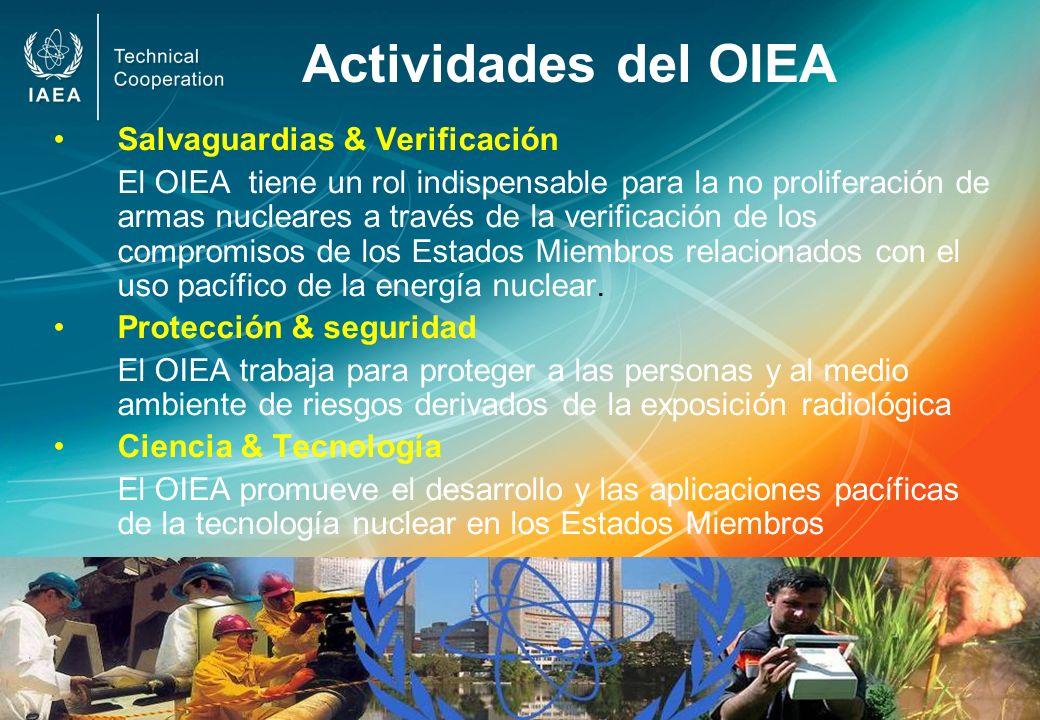 Actividades del OIEA Salvaguardias & Verificación