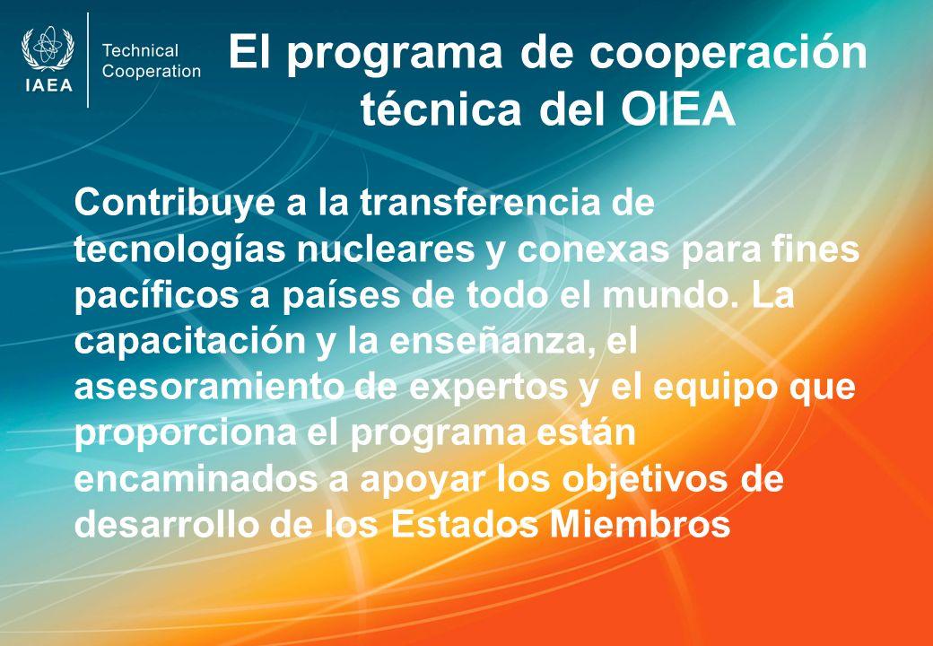 El programa de cooperación técnica del OIEA