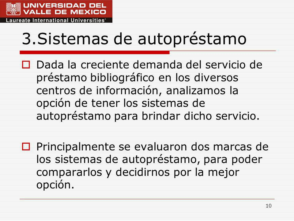 3.Sistemas de autopréstamo